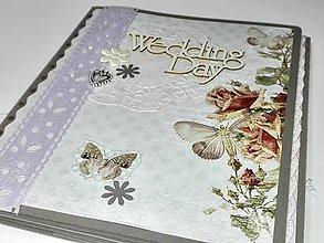 Papiernictvo - Svadobné leporelo - romantika s motýlikmi - 8557429_