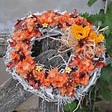 Dekorácie - Jesenný veniec - 8555496_