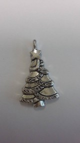 Prívesok strieborný vianočný stromček 2,5 x 1,7 cm