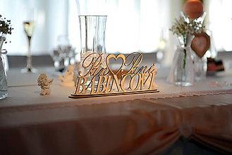 Darčeky pre svadobčanov - Svadobný stojanček - Pán a Pani + Priezvisko - 8557249_