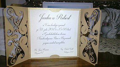 Papiernictvo - Svadobné oznámenie - 8557545_