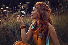 Ozdoby do vlasov - Multifunkční čelenka z kůžiček (1kus) - 8556340_