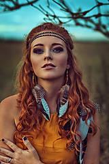 Ozdoby do vlasov - Multifunkční čelenka z kůžiček (2kusy) - 8556355_