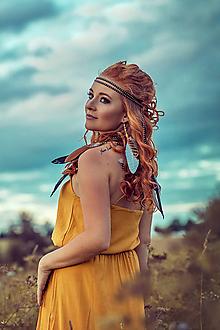 Ozdoby do vlasov - Multifunkční čelenka z kůžiček (2kusy) - 8556354_