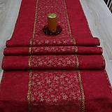 - Vínovo červená batika so zlatými hviezdičkami - stredový obr - 8556499_