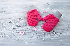 Detské doplnky - rukavičky podšité  minky ...alebo farbu si vyber! - 8557536_