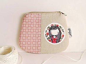 Peňaženky - Len ja a môj svet - ružová peňaženka, väčšia - 8554631_