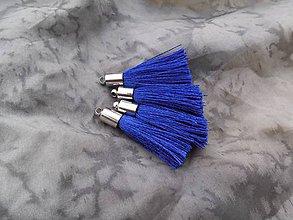 Polotovary - Strapce hodvábne modré - pár - 8556252_