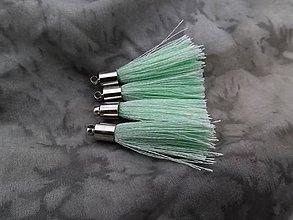 Polotovary - Strapce hodvábne svetlo zelené - pár - 8556299_