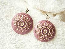 Náušnice - Náušnice z polyméru, ornament-čipka - 8555974_