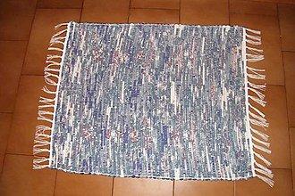 Úžitkový textil - Tkaný koberec modro-tyrkysovo-zeleno-bordový - 8554709_