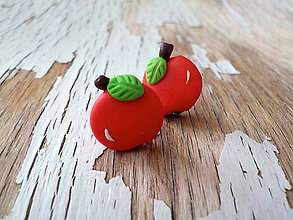 Náušnice - ovocie-napichovačky (jabĺčka) - 8556910_