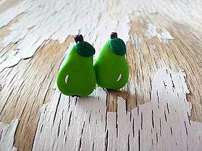 Náušnice - ovocie-napichovačky (hruštičky) - 8556939_