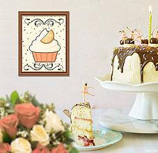 Grafika - Sladká stracciatella grafika (pomarančový muffin) - 8556347_