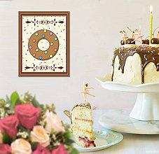 Grafika - Sladká stracciatella grafika (čokoládový donut) - 8556795_