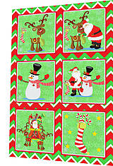 Textil - BAVLNĚNÝ PANEL - SADA 30 x 45 cm 4DG85 - 8560071_