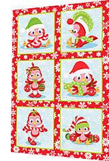 Textil - BAVLNĚNÝ PANEL - SADA 30 x 45 cm 4DG84 - 8560075_