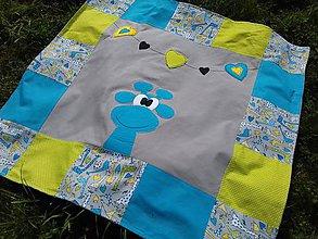 Úžitkový textil - Deka Źirafa s Minkami - 8558997_