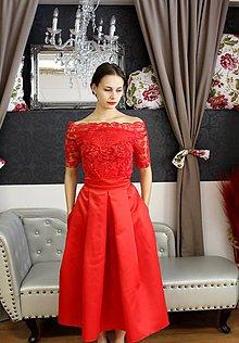 Sukne - červená sukňa..... - 8557989_