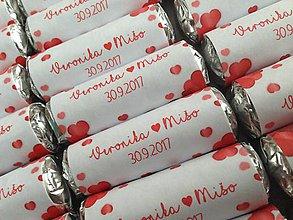 Darčeky pre svadobčanov - SVADOBNÉ CUKRÍKY - mini mentos - 8558180_