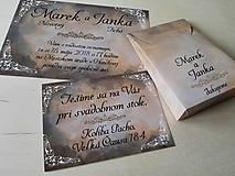 - svadobné oznámenie, darčeková taška, pozvánka - 8558666_