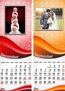 Grafika - úzky osobný kalendár s fotkami - 8558752_