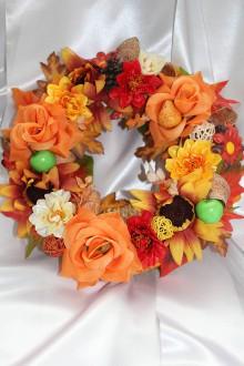 Dekorácie - ***AKCIA*** Jesenný venček na dvere veľký - 8559745_