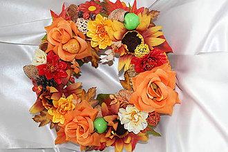 Dekorácie - Jesenný venček na dvere veľký - 8559745_