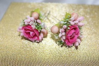 Ozdoby do vlasov - Ružová vlásenka do vlasov - 8560266_