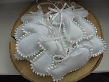 - Sada vianočných ozdôb - snehobiela s korálkami II.  - 8558651_