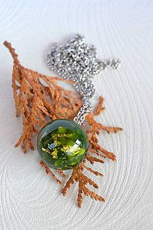 Náhrdelníky - Náhrdelník Zelená gulička (2251 A CHO) - 8559447_