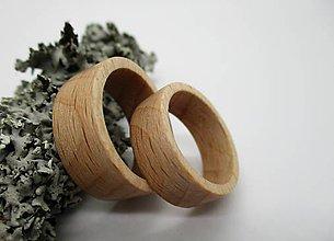 Prstene - Drevené obrúčky  - Fagus - 8558586_