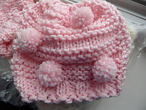 Detské čiapky - bambuľková čiapočka - 8559196_