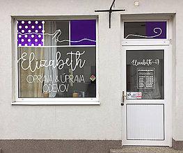 Grafika - Úprava odevov Elizabeth branding predajne - 8559230_