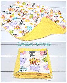 Úžitkový textil - Minky v žltom - 8559882_