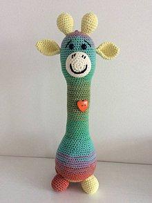 Hračky - melírovaná žirafa - 8558885_