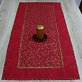 - Vínovo červená batika so zlatými hviezdičkami - obrus obdĺžn - 8559854_
