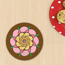 Dekorácie - Ozdoba na koláčik mandala reliéf - 8557661_