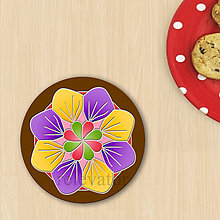 Grafika - Ozdoba na koláčik mandala (reliéf 6) - 8558335_