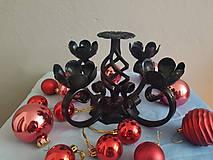 Svietidlá a sviečky - adventný kovový svietnik - 8561801_