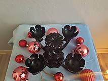 Svietidlá a sviečky - adventný kovový svietnik - 8561802_