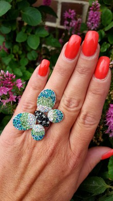 Prstene - Prsteň motýľ - 8563405_