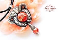 Náhrdelníky - pomarančový jaspis-prívesok - 8563497_