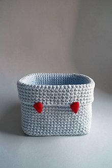 Košíky - Košík - Modrý svetlý II | Červený gombík | Trojuholník - 8562033_