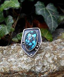 Prstene - Strieborný Prsteň s Tyrkysom - 8561240_