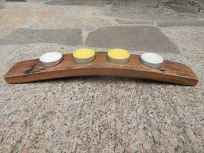 Svietidlá a sviečky - Svietnik (Wine barrel candle holder) - 8561561_