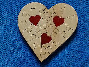 Dekorácie - Puzzle srdce - 8564386_