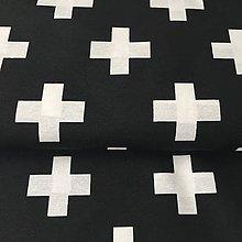 Textil - maxi krížiky, hrubšia zmesová látka, šírka 140 cm, cena za 0,5 m - 8564148_