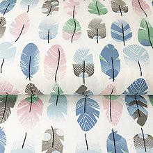 Textil - NOVINKA! bavlnený úplet pierka, šírka 165 cm, cena za 0,5 m - 8564300_