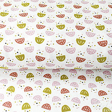 Textil - NOVINKA! bavlnený úplet kvietky, šírka 160 cm, cena za 0,5 m - 8564325_